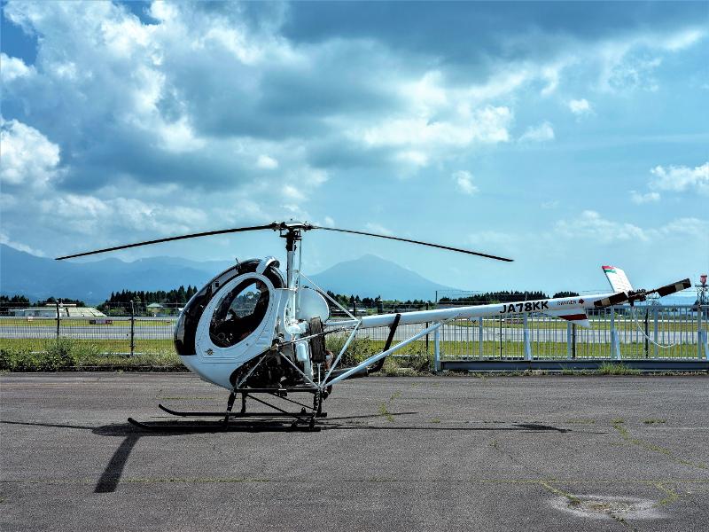 撮影用ヘリ